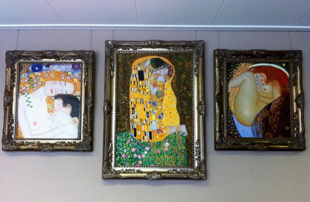 Hedendaags Reproductie schilderij drieluik Gustav Klimt - mypainting LV-74