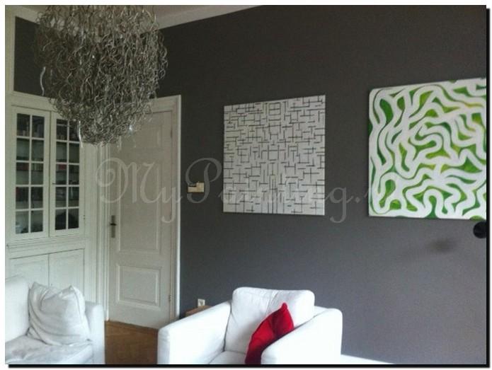 Voorbeelden van moderne schilderijen mypainting - Idee schilderij living ...