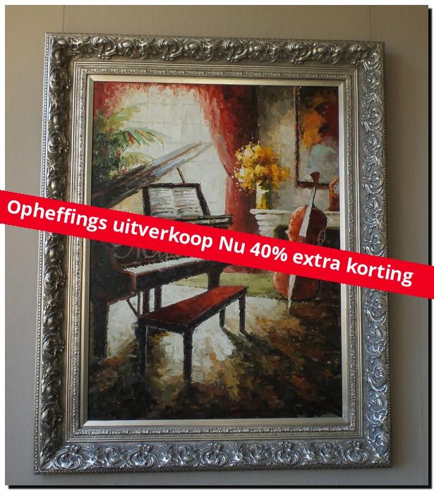 Palet schilderij Klassiek Interieur - mypainting